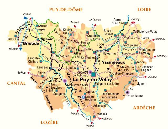 carte de france haute loire