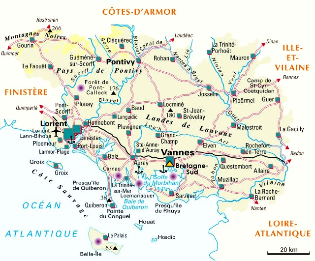 Connu Carte du départementn° 56 ( Morbihan ) ZW15