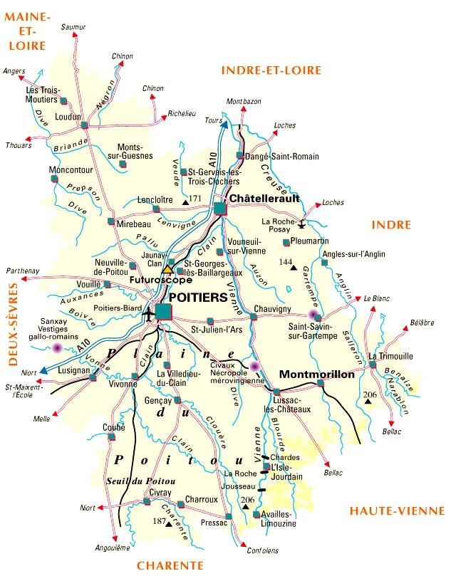 Carte De La Ville De Rochechouart Et De Ses Alentours